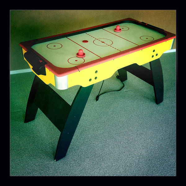 Air Hockey Table Poster featuring the photograph Air Hockey Table by Les Cunliffe