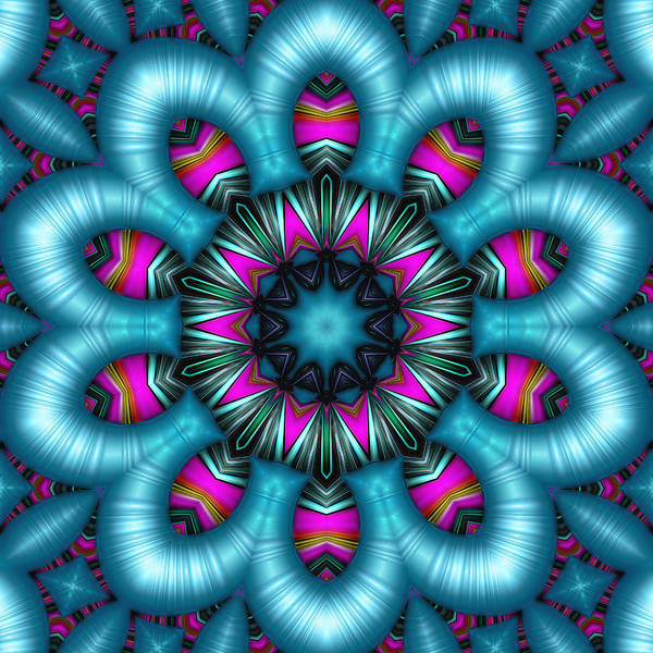 Kaleidoscope Poster featuring the digital art Allure by Wendy J St Christopher