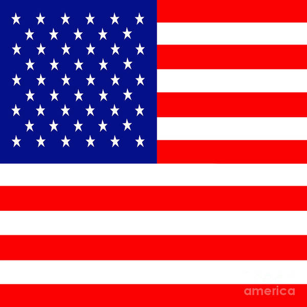 Usa Poster featuring the photograph American Flag . Square by Wingsdomain Art and Photography