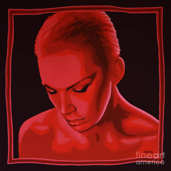 Annie Lennox Poster featuring the painting Annie Lennox by Paul Meijering