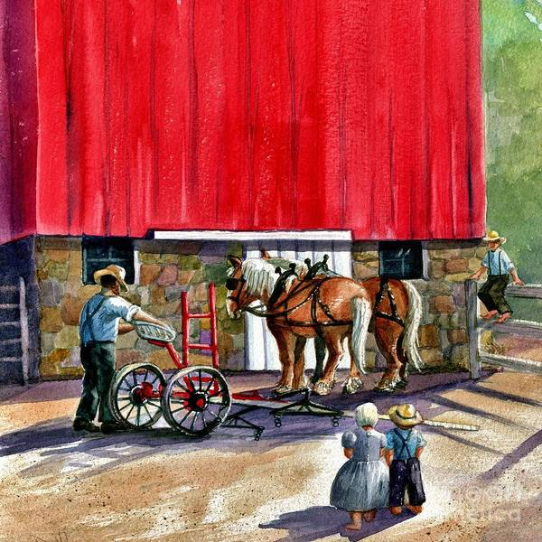 Amish Poster featuring the painting Another Way Of Life by Marilyn Smith