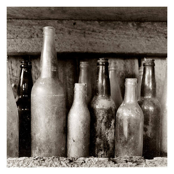 Travel Poster featuring the photograph Antique Bottles by Jeff Leland