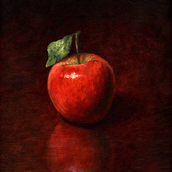 Apple Poster featuring the painting Apple by Mark Zelmer