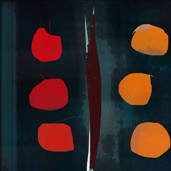 Abstract Poster featuring the digital art Apples And Oranges by John Allen