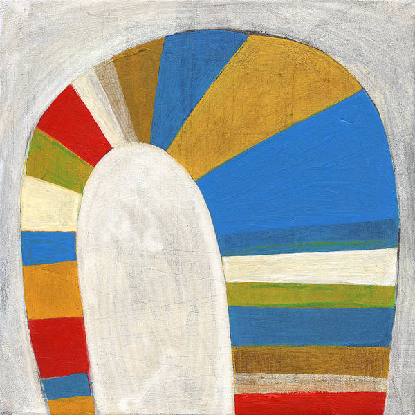 Stripes Poster featuring the painting Arch Four by Laura Nugent