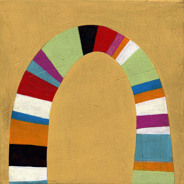 Color Poster featuring the painting Arch Two by Laura Nugent