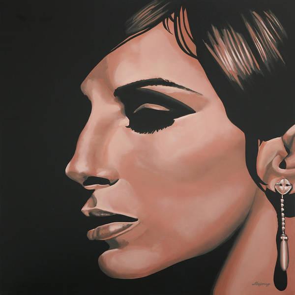 Barbra Streisand Poster featuring the painting Barbra Streisand by Paul Meijering