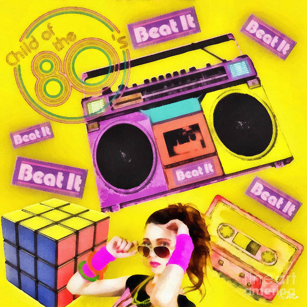 Beat It Poster featuring the digital art Beat It by Mo T
