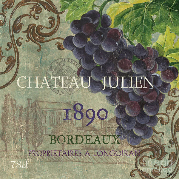 Wine Poster featuring the painting Beaujolais Nouveau 2 by Debbie DeWitt