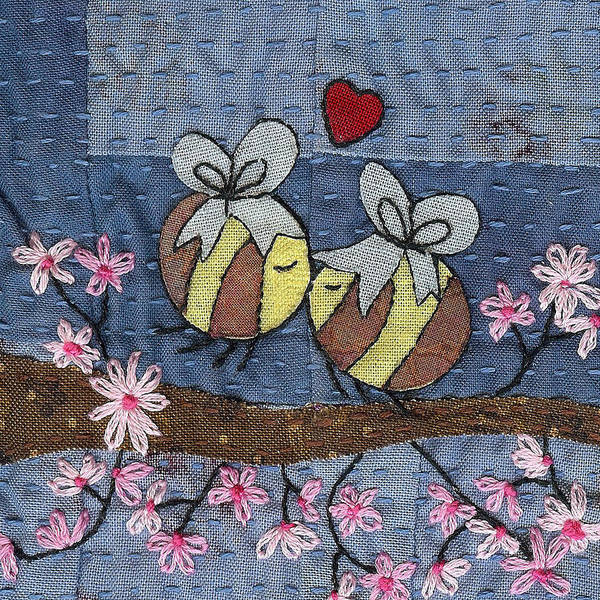 Boho Poster featuring the tapestry - textile Beeing In Love by Julie Bull