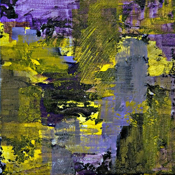 Abstract Poster featuring the painting Beneficial Bees 2 Of 2 by Jacqueline Milner