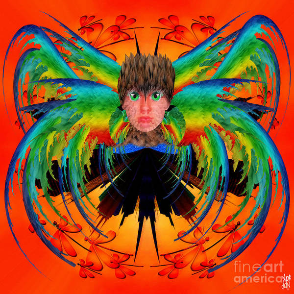 Fantasy Poster featuring the digital art Bird Of Paradise by Neil Finnemore