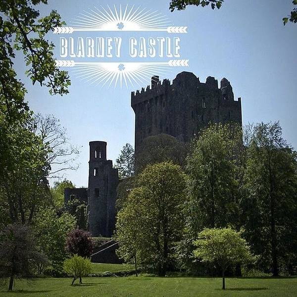 Stone Poster featuring the photograph Blarney Castle Where You Must Kiss The by Teresa Mucha