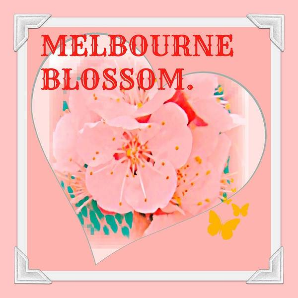Melbourne Poster featuring the digital art Blossom In Melbourne by Meiers Daniel