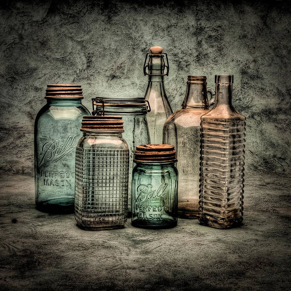 Bottles Poster featuring the photograph Bottles II by Timothy Bischoff