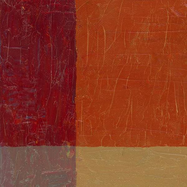 Abstract Poster featuring the painting Bricks And Reds by Michelle Calkins