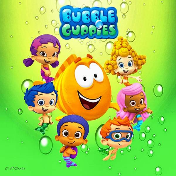 Bubble Guppies Poster by Elizabeth Coats