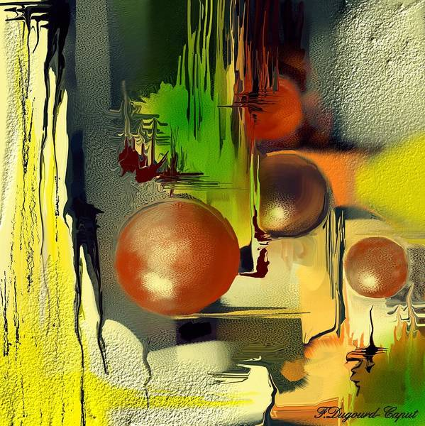 Abstract Poster featuring the painting Centaure by Francoise Dugourd-Caput