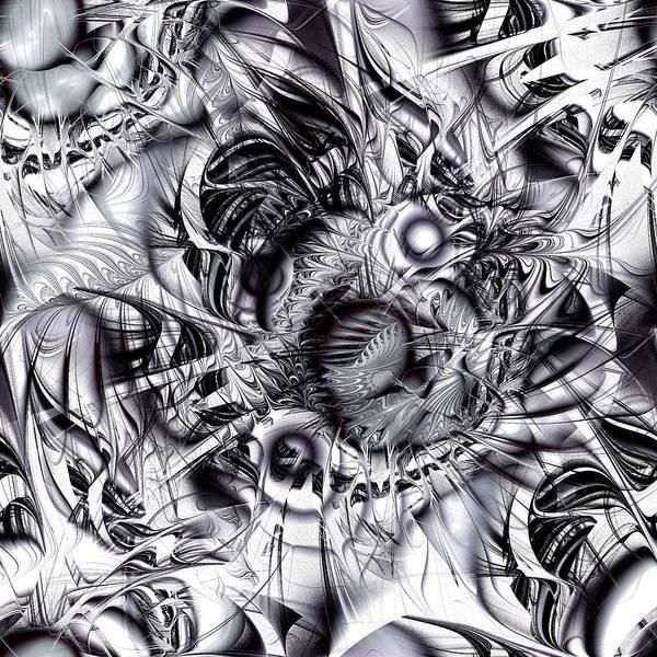 Malakhova Poster featuring the digital art Chaotic Space by Anastasiya Malakhova