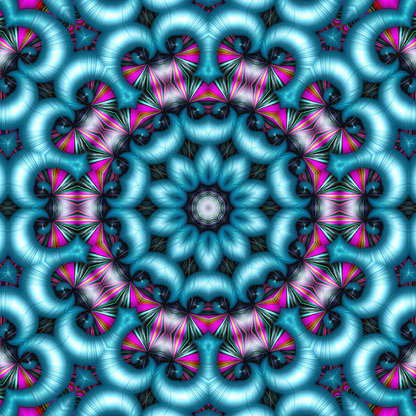 Kaleidoscope Poster featuring the digital art Charisma by Wendy J St Christopher