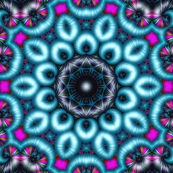 Kaleidoscope Poster featuring the digital art Charmed by Wendy J St Christopher