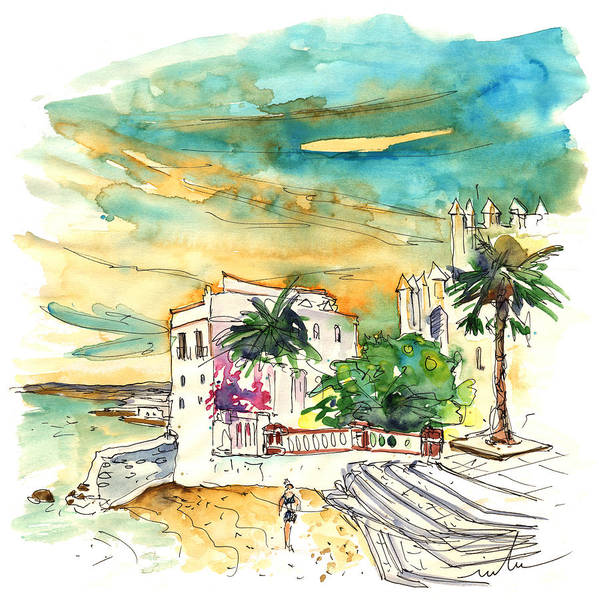 Travel Poster featuring the painting Chipiona Spain 04 by Miki De Goodaboom