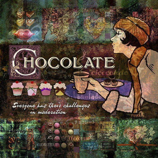 Chocolate Poster featuring the digital art Chocolate by Evie Cook