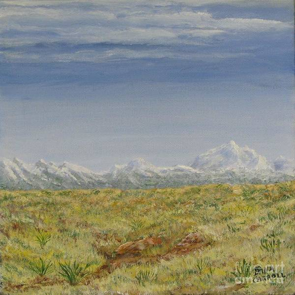 Colorado Poster featuring the painting Colorado Eastern Plains by Dana Carroll