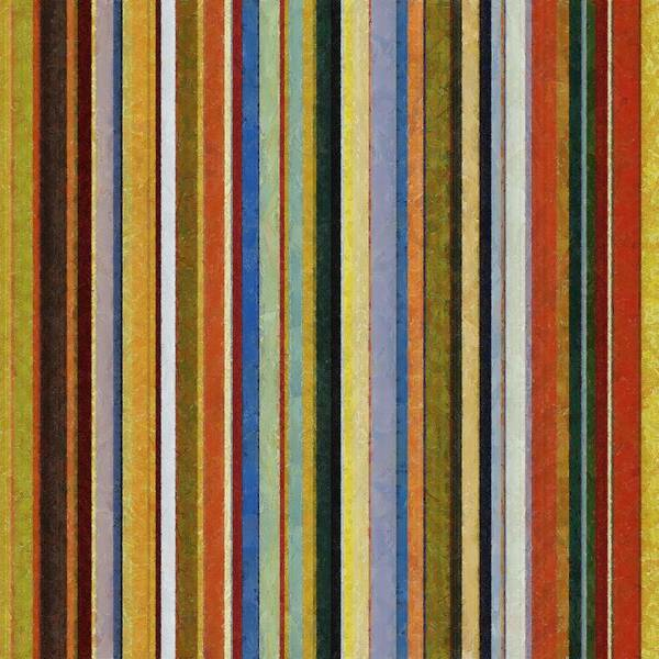 Textured Poster featuring the painting Comfortable Stripes V by Michelle Calkins