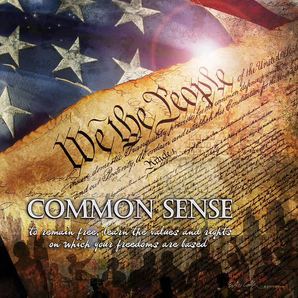 Constitution Poster featuring the digital art Common Sense by Evie Cook