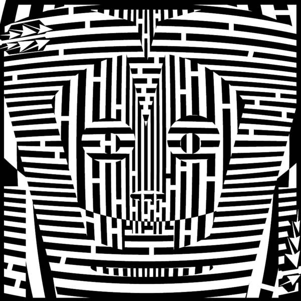 Confused Poster featuring the drawing Confused Mask Maze by Yonatan Frimer Maze Artist
