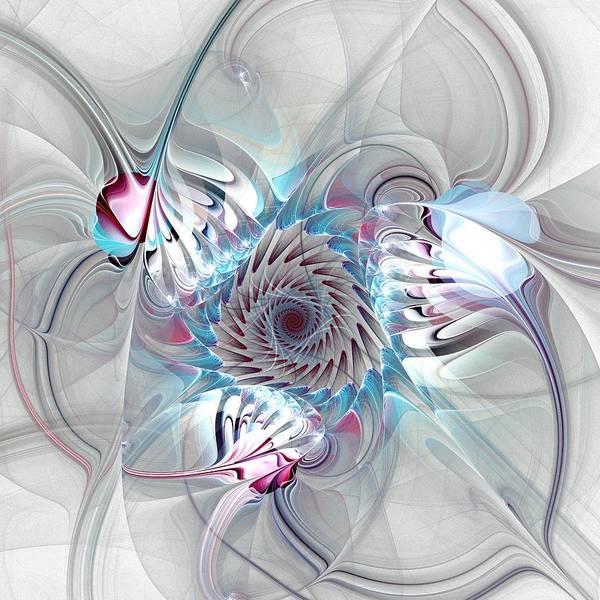 Malakhova Poster featuring the digital art Contact by Anastasiya Malakhova