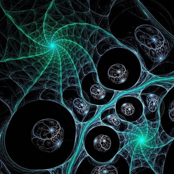 Malakhova Poster featuring the digital art Cosmic Web by Anastasiya Malakhova