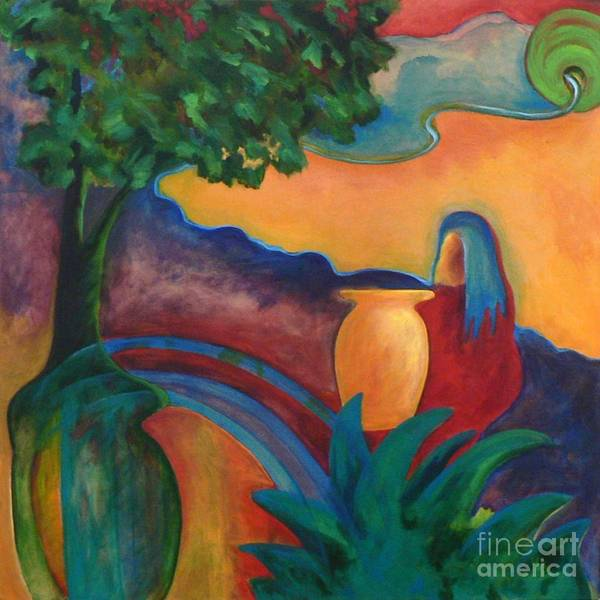 Tropical Poster featuring the painting Costa Mango II by Elizabeth Fontaine-Barr