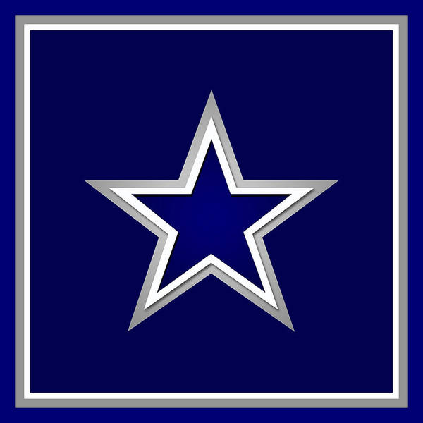 Nfl Poster featuring the painting Dallas Cowboys by Tony Rubino