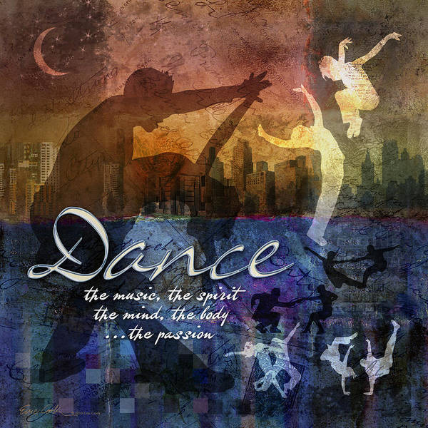 Dance Poster featuring the digital art Dance Bright Colors by Evie Cook