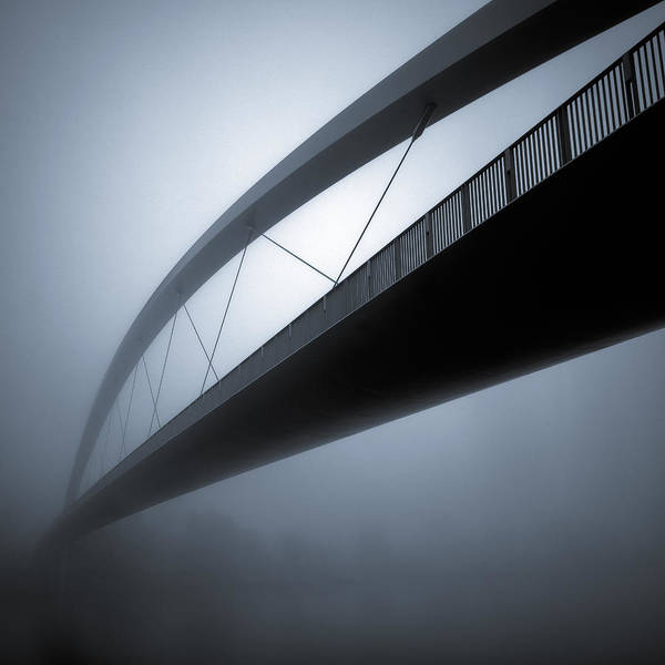 Bridge Abstract Poster featuring the photograph De Hoge Brug by Dave Bowman