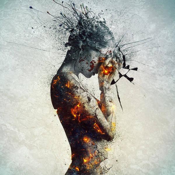 Deliberation Poster featuring the digital art Deliberation by Mario Sanchez Nevado
