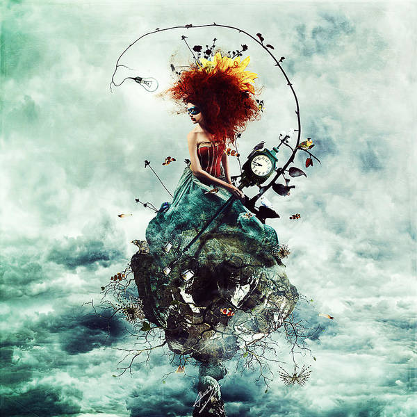 Crazy Poster featuring the digital art Delirium by Mario Sanchez Nevado