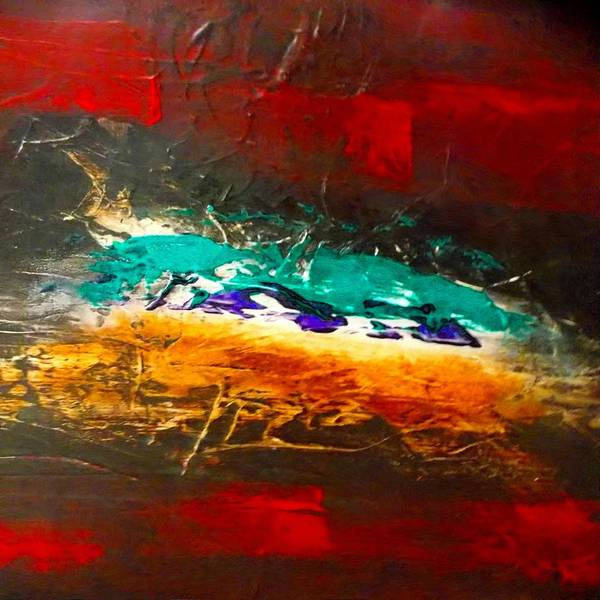 Storm. Abstract Poster featuring the painting Divine Chaos by Carolyn Repka