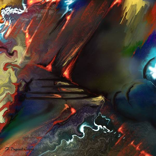 Abstract Poster featuring the painting Dragonland by Francoise Dugourd-Caput