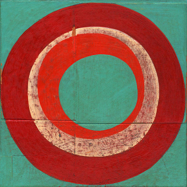 Circles Poster featuring the painting Drunk Circles Five by Laura Nugent