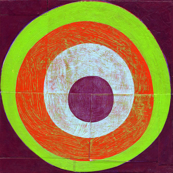 Circles Poster featuring the painting Drunk Circles Seven by Laura Nugent