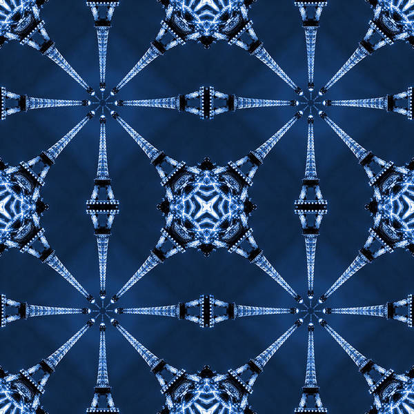 Abstract Poster featuring the photograph Eiffel Art 18 by Mike McGlothlen