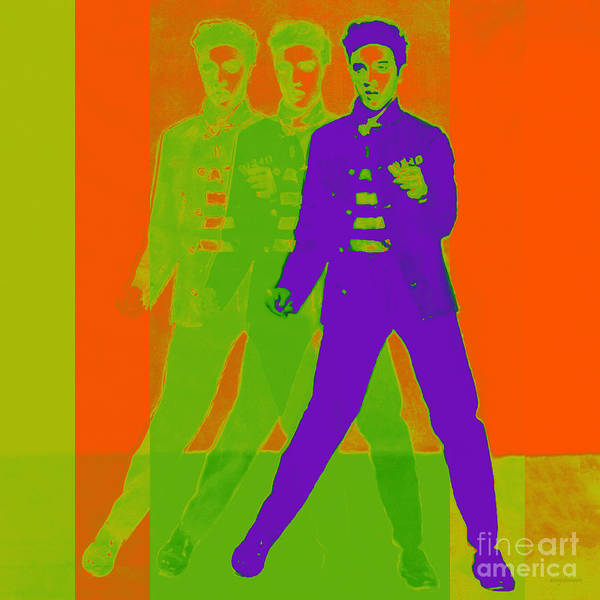 Elvis Presley Poster featuring the photograph Elvis Jail House Rock 20130215m28 by Wingsdomain Art and Photography