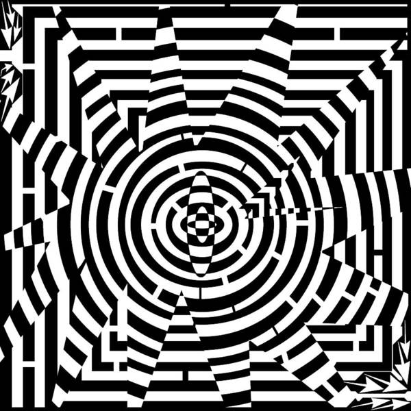 Explosive Poster featuring the drawing Explosive Pattern Maze by Yonatan Frimer Maze Artist