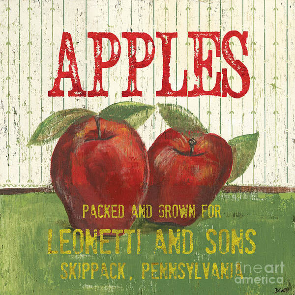 Food Poster featuring the painting Farm Fresh Fruit 3 by Debbie DeWitt