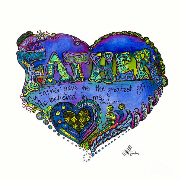 Father Poster featuring the drawing Father - 2013 - 1 by Suzanne Allen de Sanchez