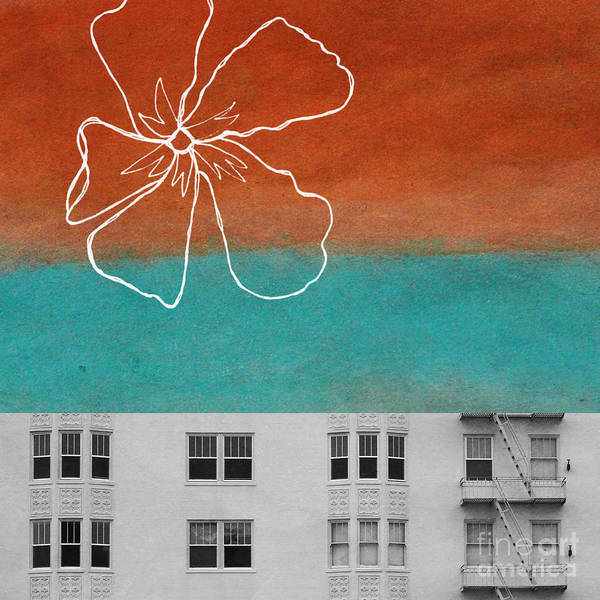 Windows Poster featuring the painting Fire Escapes by Linda Woods