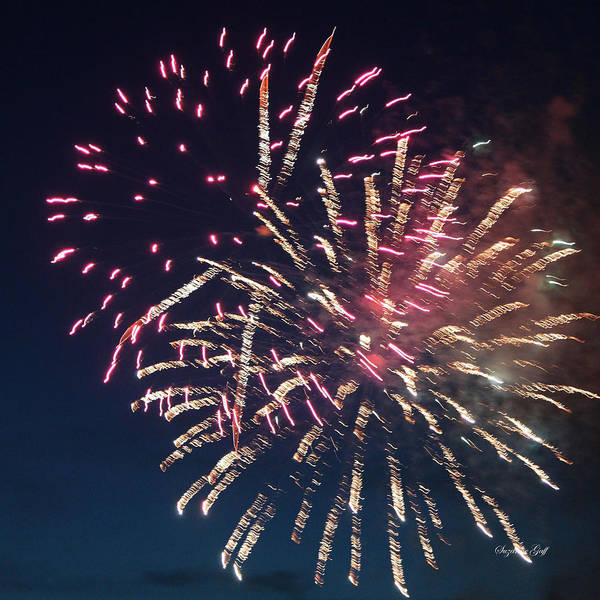July Poster featuring the photograph Fireworks Series Xiii by Suzanne Gaff